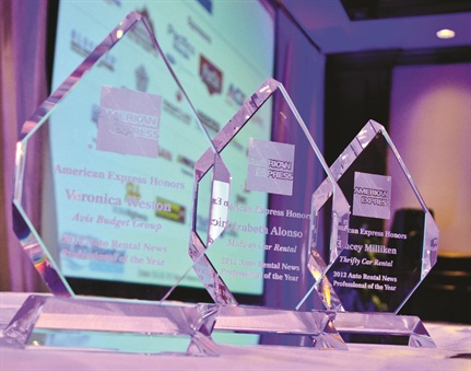 Photo by Joanne Tucker.The awards given at the 2012 Auto Rental Summit.