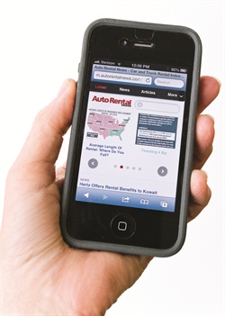 Auto Rental News' mobile-enabled website.