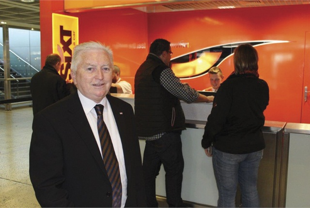 Bernard Loughran, CEO, at the Sixt desk in Dublin Airport's Terminal 1.