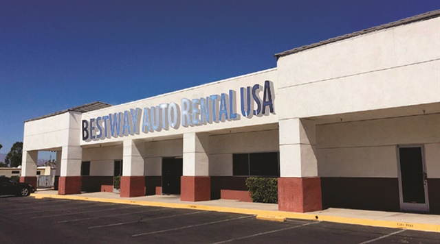 Best Way Auto & Truck Rental's main operating office in Las Vegas. Photo courtesy of Best Way Auto & Truck Rental.