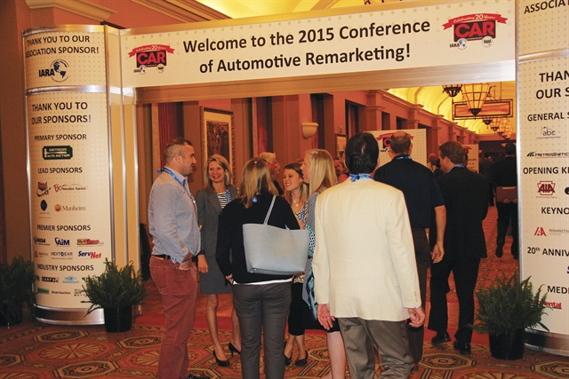 CAR attendees chatting as they enter the conference. Photo courtesy of Chris Wolski.