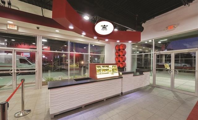 Orlando's Economy Rent A Car's recently built coffee shop.