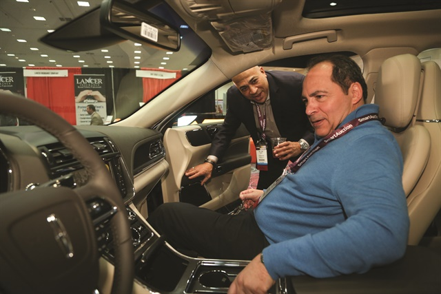 Several vehicles were on display in the exhibit hall. Attendees had the chance to sit in the vehicles to get a feel for the in-cabin features and technology.