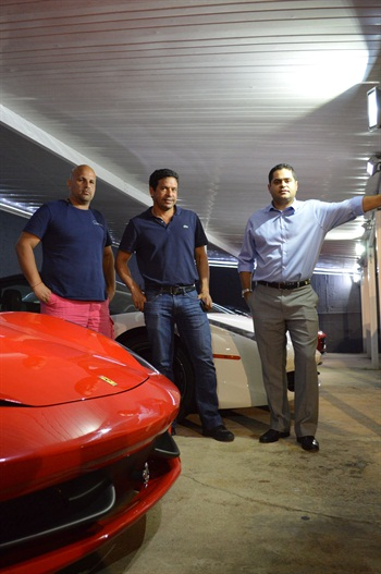 (Left to right) Victor Negron of American Luxury Auto, Carlos Dolabella of First Class Rent A Car and Bruno Vargas of Speed Auto Rental are fighting elements of the exotic car rental industry in South Florida that are perpetrating fraud, undercutting business and tarnishing the image of legitimate car rental operators.