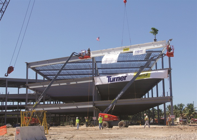 Intended to house at least 700 employees, the new Hertz Corp. headquarters in Estero, Fla., is set to be complete in 2015. Photo courtesy of Hertz Corp.