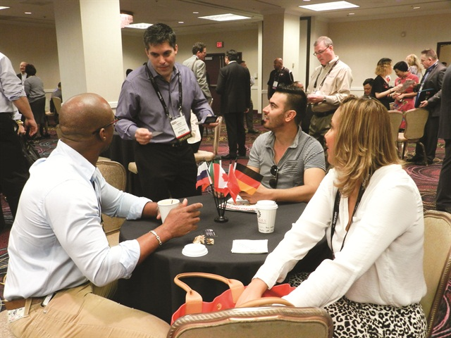 This year's show featured special events for international attendees, including an international meet-and-greet networking session on Monday morning. Photo by Amy Winter.