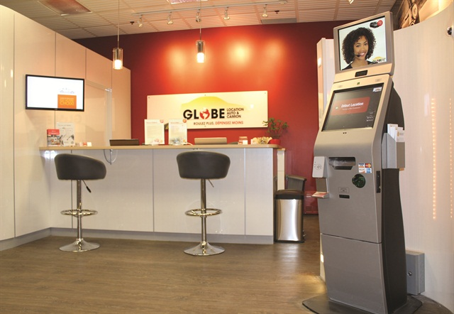 At present, Globe Car Rental has deployed five kiosks, both in-store and at standalone locations. Globe beliees the kiosk initiative will expand its reach through partnerships with potential car rental provider partners such as hotels, parking garages, dealerships and beauty shops.