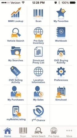 Using Manheim's mobile app, clients can research vehicles, place bids and buy vehicles online, while sellers can use the app to take photos and list a vehicle, accept offers and view the status of cars once they are bought or sold. Photo courtesy of Manheim.