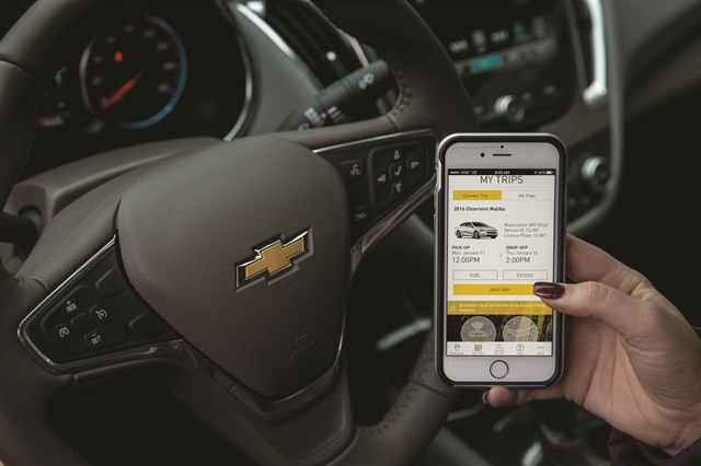 In 2016 General Motors launched Maven, its personal mobility brand. In addition to carsharing services in nine U.S. cities, Maven is available in residential buildings in Chicago and New York, as a peer-to-peer carsharing service in Frankfurt and Berlin, and through pilot programs on various GM campuses to test potential corporate offerings. Photo courtesy of General Motors