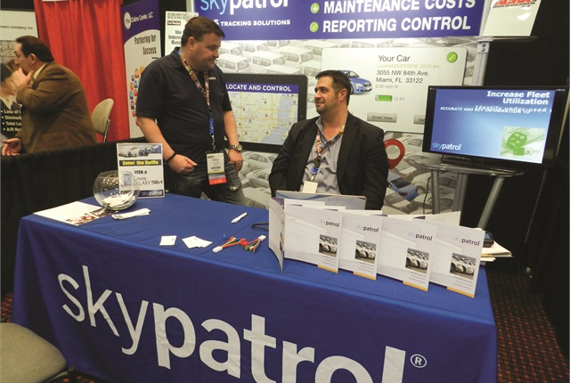 Skypatrol, a developer of software tools and proprietary GPS hardware, was one of 90 exhibitors featured in this year's exhibit hall. Photo by Amy Winter.