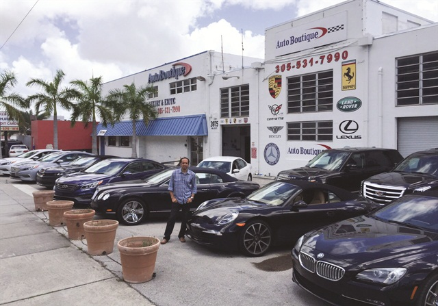 "Youssef Aziz, co-owner of Auto Boutique in Miami, says he lets his leasing company do the work to find the cars. ""They help you find the deals because they want you to be successful and lease more cars from them,"" he says."