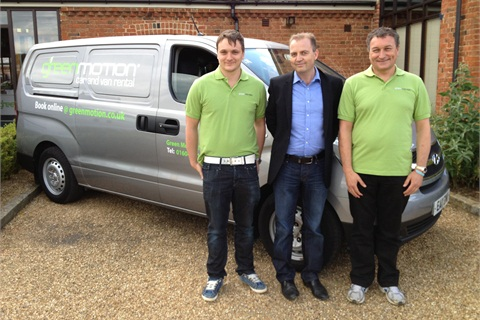 Photo left to right: Andy Higgins (Northampton franchise co-owner), Richard Lowden (Green Motion's founder and chairman) and Rob Higgins (Northampton franchise co-owner and director of Green Motion Northampton).