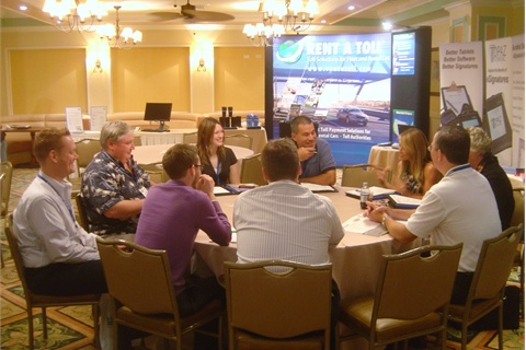 One of the many group discussions at Bluebird's User's Conference