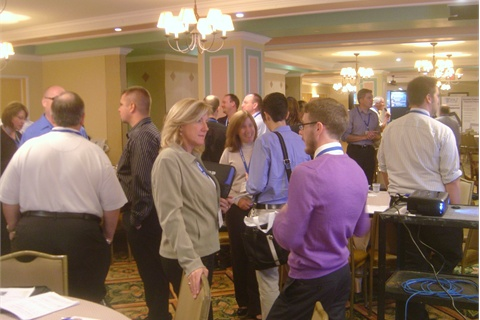 "The conference's ""speed networking"" session"