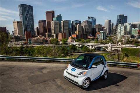car2go in Calgary, Alberta in Canada.