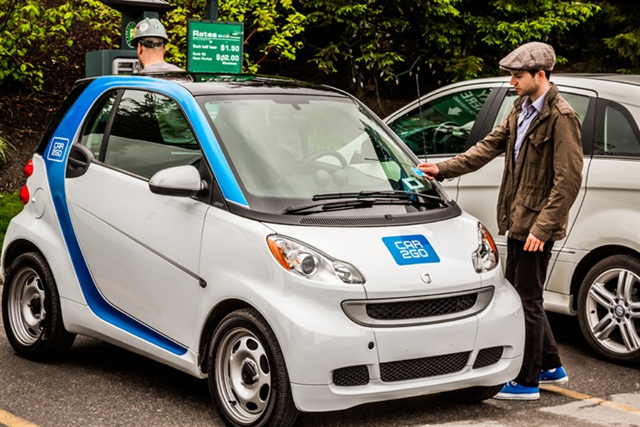 A car2go smart fortwo vehicle in Toronto.