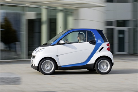 Photo courtesy of Daimler AG A 'car2go edition' smart fortwo vehicle.