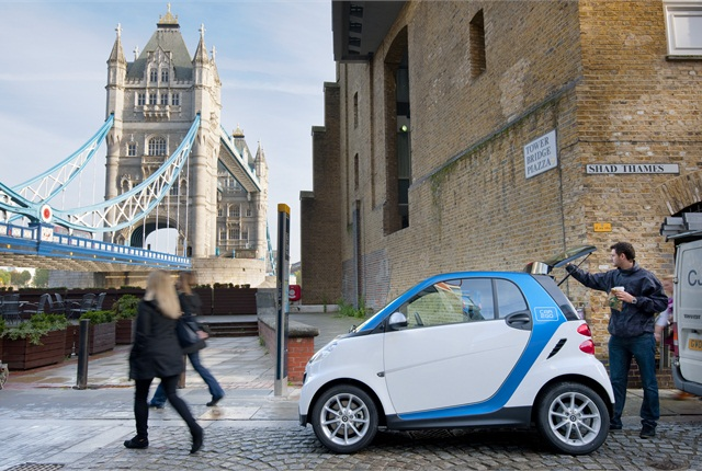 car2go launched in London with 500 smart fortwos.