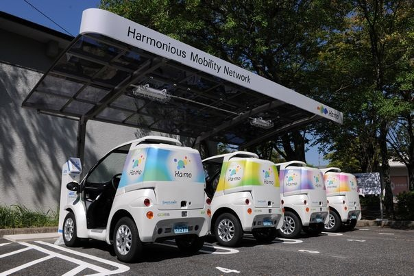 The Ha:mo Ride EV-sharing station. Starting this month, four unmanned stations will be established in Toyota City.