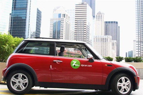 About 500 Zipcar vehicles will be available to State of Illinois employees for use in the Chicago area.