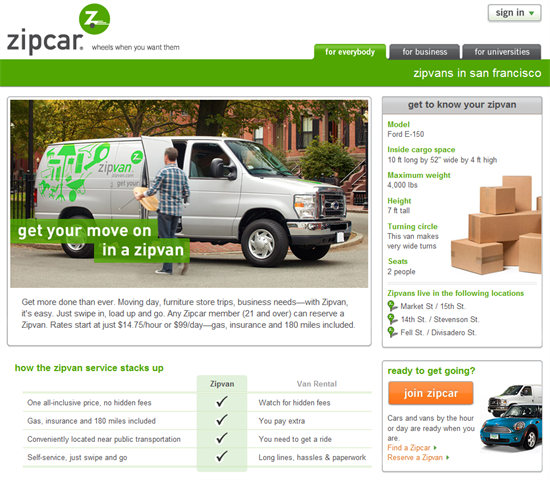 Zipcar Launches Pilot For 'Zipvan' Cargo Van Service In