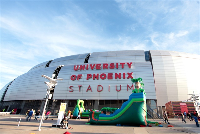 The University of Phoenix Stadium is one of the facilities partially funded by the rental tax surcharge. Photo via Gage Skidmore/flickr