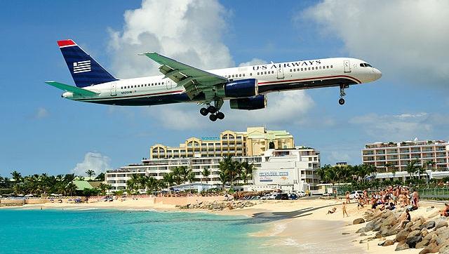 An airplane approaching St. Maarten's Princess Juliana International Airport. Photo courtesy of Wikimedia.