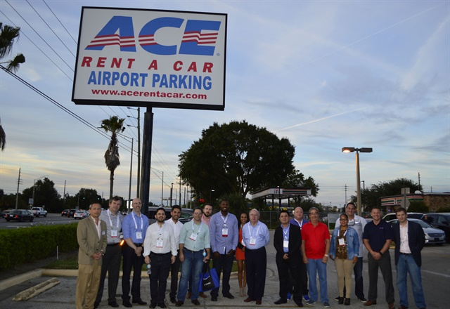 A group of international car rental operators visited the new ACE Rent A Car facility near Orlando International Airport. Photo by Amy Winter-Hercher.