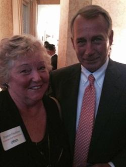 Sharon Faulkner, executive director of ACRA, meets with House Speaker John Boehner.