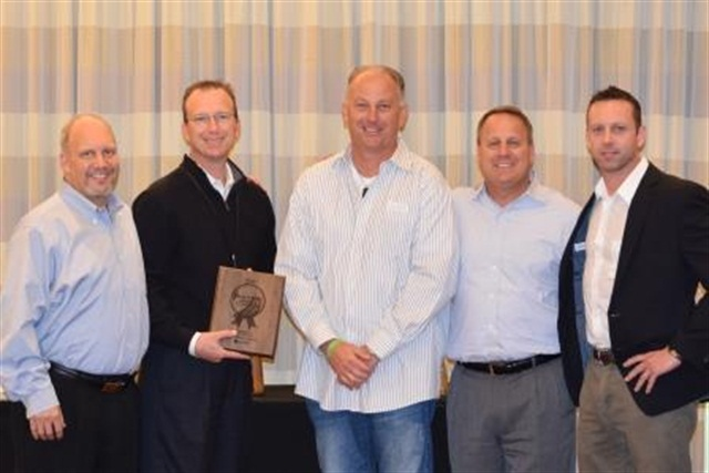 Arizona Collision Specialists was one of the recipients of Enterprise's Best Length of Rental Awards. (left to right): Mike Anderson, Daren Pierse, John Bock, Frank LaViola, Cary Bikowsky. Photo courtesy of Enterprise.