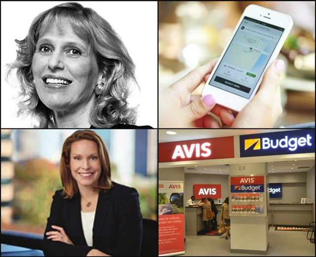 (Clockwise l to r) Kathryn Marinello replaces John Tague as Hertz's president and CEO; Uber finishes ahead of car rental for business travelers; Christine Taylor is named Enterprise's chief operating officer; Avis Budget's full-year revenue increases 5%.