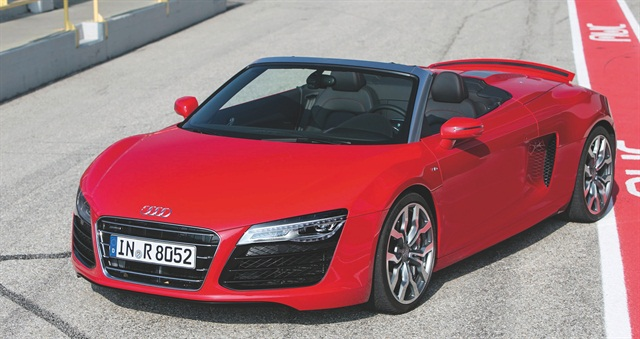 The Audi R8 Spyder is one of the luxury vehicles available in Enterprise Rent-A-Car's Exotic Car Collection. Photo courtesy of Audi.