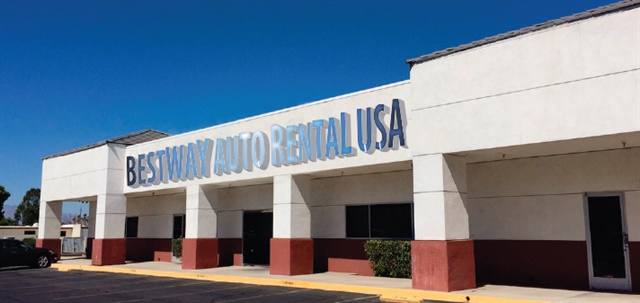Best Way Auto & Truck Rental's Las Vegas location. Photo courtesy of Best Way.