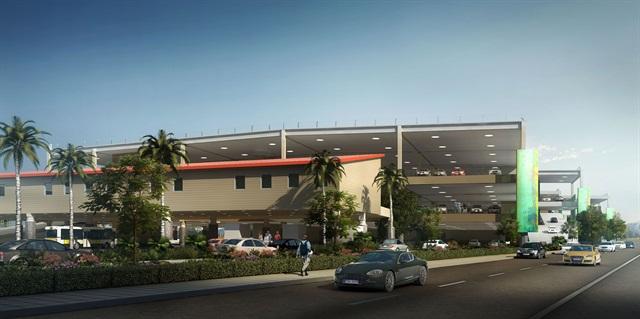 An artist's rendering of Bob Hope Airport's new Intermodal Transportation Center.