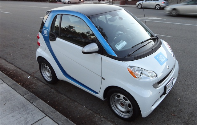 car2go's smart fortwo vehicle. Photo via Wikimedia.