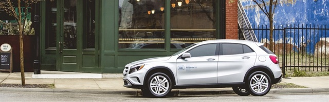 car2go's one-way carshare service in Austin is getting an upgrade: new Mercedes-Benz CLA and GLA compact vehicles. Photo courtesy of car2go.