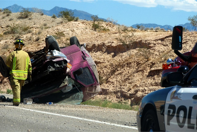 Photo of car crash by CGP Grey via Wikimedia Commons.