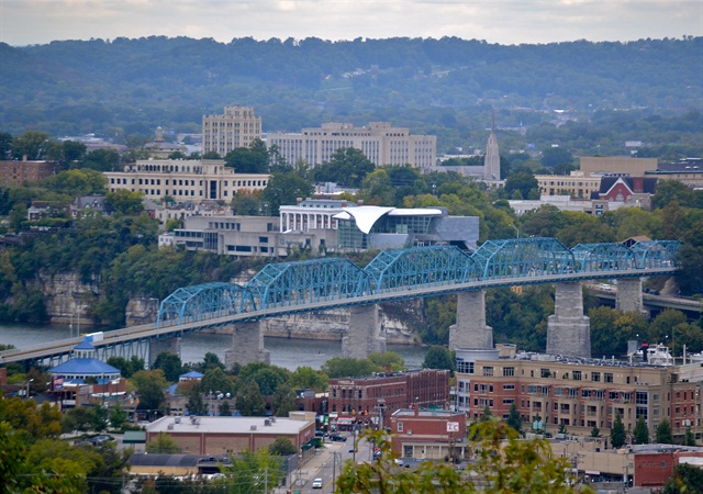 The city of Chattanooga, Tennessee. Photo via Wikimedia.
