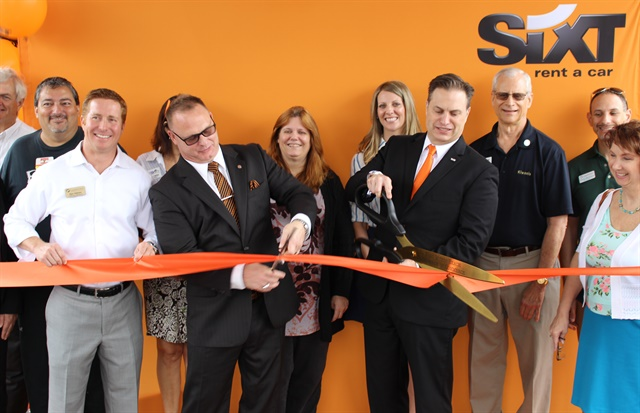Sixt celebrated its latest grand opening with the Fort Myers Chamber of Commerce. Photo courtesy of Sixt