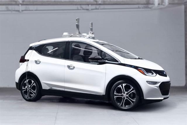 Photo of autonomous Chevrolet Volt courtesy of Cruise Automation.