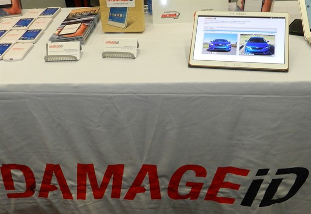 Damage iD's booth at last year's International Car Rental Show. Photo by Amy Winter-Hercher.