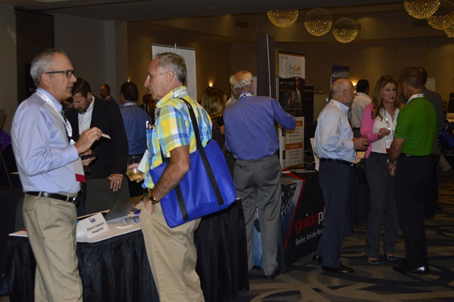 The event offered several opportunities for attendees to network with various vendors in the exhibit hall. Photo by Amy Winter-Hercher.