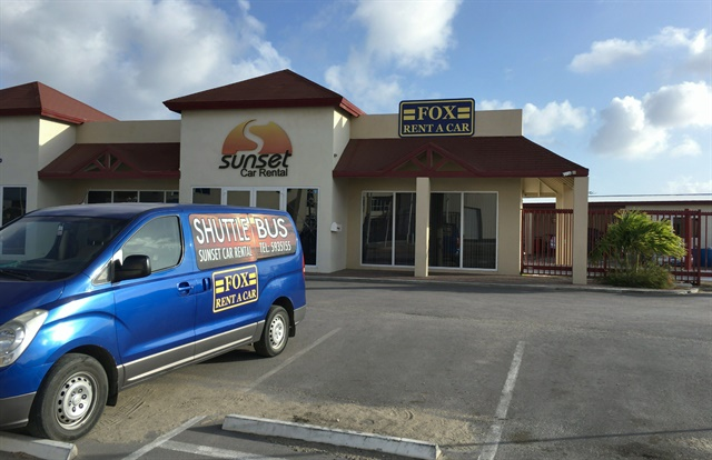 Sunset Car Rental is Fox Rent A Car's new affiliate location in Aruba. Photo courtesy of Fox Rent A Car