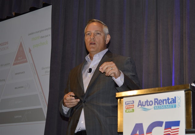 Geoffrey Toffetti from Frontline Performance Group presents the opening keynote address. Photo by Amy Winter-Hercher.