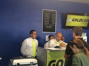 Goldcar opens at Cancun International Airport. Photo courtesy of Goldcar.