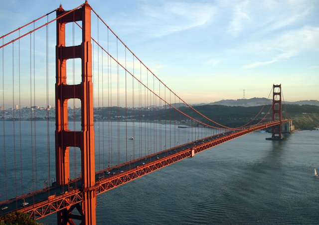 The lawsuit is involving toll fees that were charged to Hertz customers when crossing San Francisco's Golden Gate Bridge. Photo via Wikimedia/Rich Niewiroski Jr., www.projectrich.com/gallery