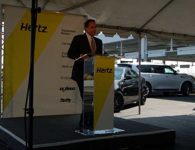 Mark Frissora stepped down as Hertz CEO and chairman last month. Photo by Amy Winter.