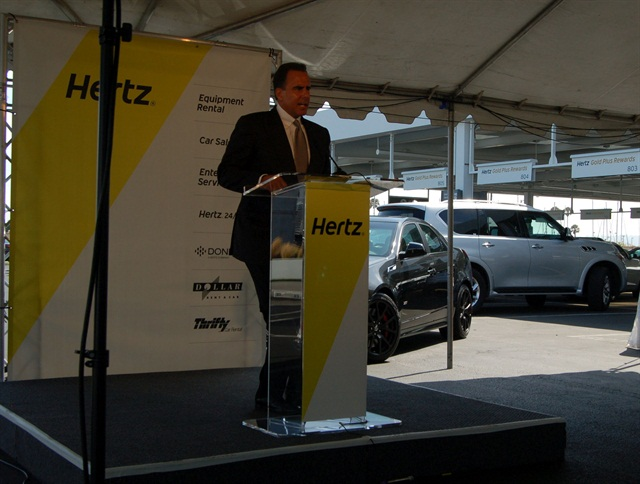 Mark P. Frissora has stepped down as Hertz CEO and chairman. Photo by Amy Winter.