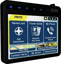 Hertz NeverLost GPS navigation system. Photo courtesy of Hertz Corp.