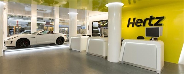 A Hertz location in Paris. Photo courtesy of The Hertz Corp.